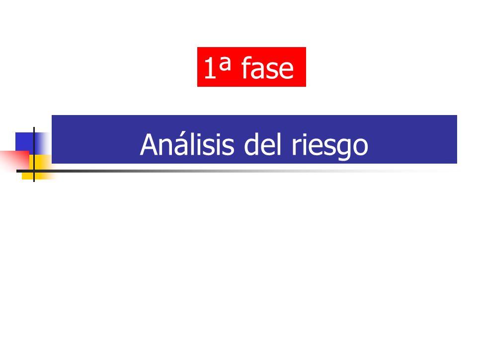 1ª fase Análisis del riesgo