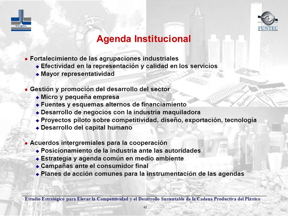 Agenda Institucional Fortalecimiento de las agrupaciones industriales