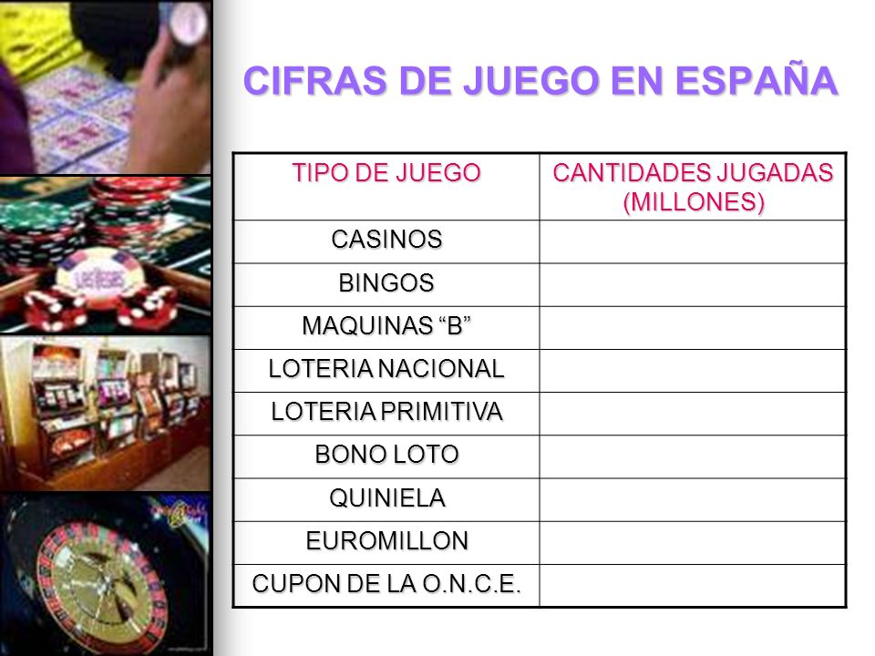CIFRAS DE JUEGO EN ESPAÑA