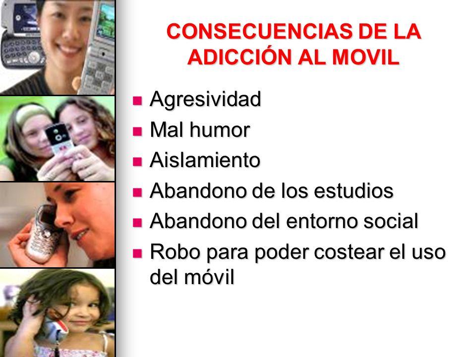 CONSECUENCIAS DE LA ADICCIÓN AL MOVIL