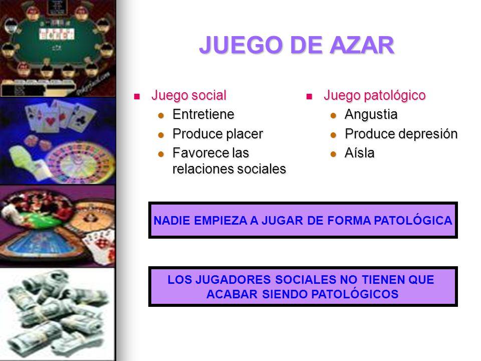 JUEGO DE AZAR Juego social Entretiene Produce placer