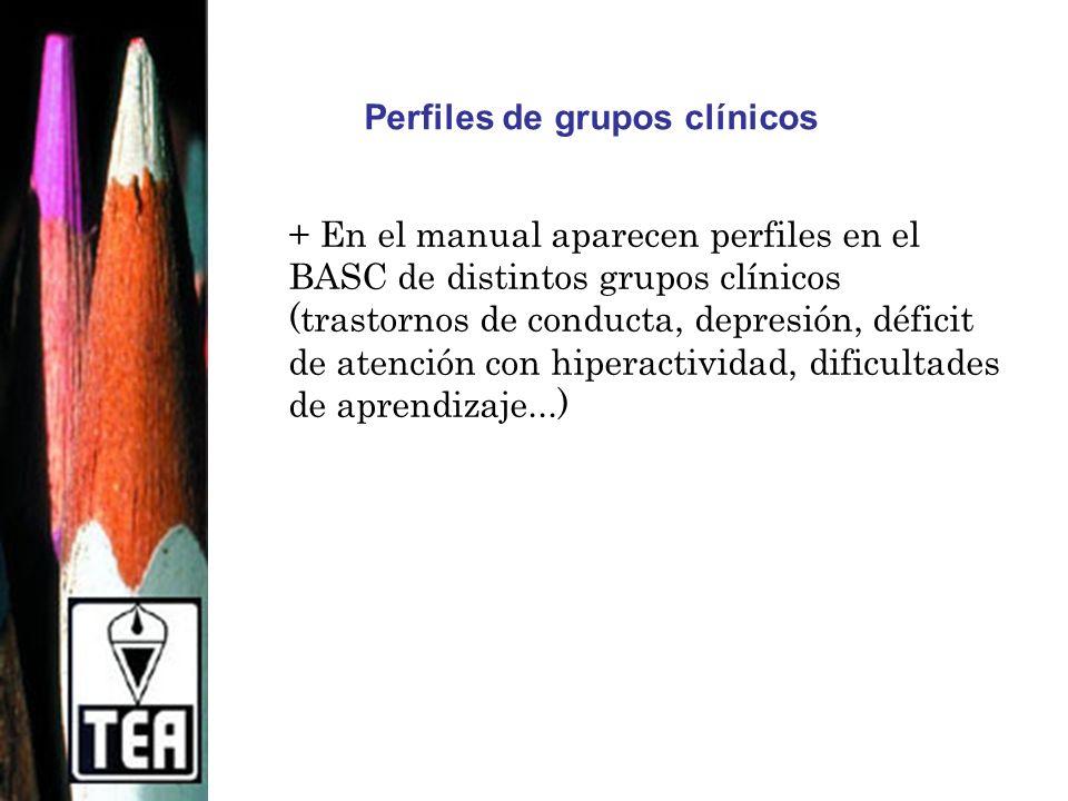Perfiles de grupos clínicos