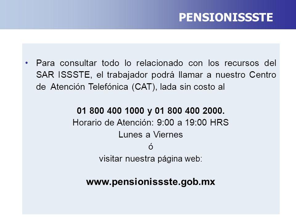 PENSIONISSSTE www.pensionissste.gob.mx
