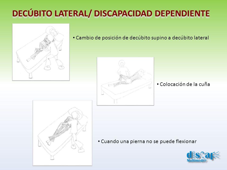 DECÚBITO LATERAL/ DISCAPACIDAD DEPENDIENTE