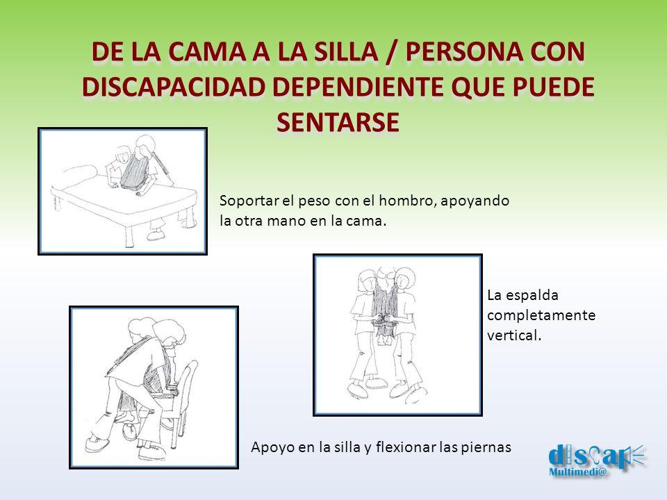 DE LA CAMA A LA SILLA / PERSONA CON DISCAPACIDAD DEPENDIENTE QUE PUEDE
