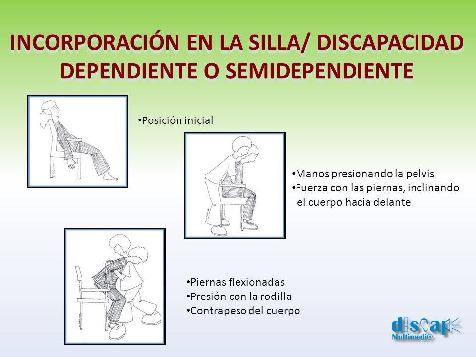 INCORPORACIÓN EN LA SILLA/ DISCAPACIDAD DEPENDIENTE O SEMIDEPENDIENTE