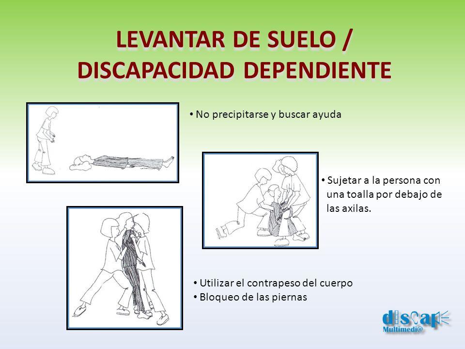 LEVANTAR DE SUELO / DISCAPACIDAD DEPENDIENTE