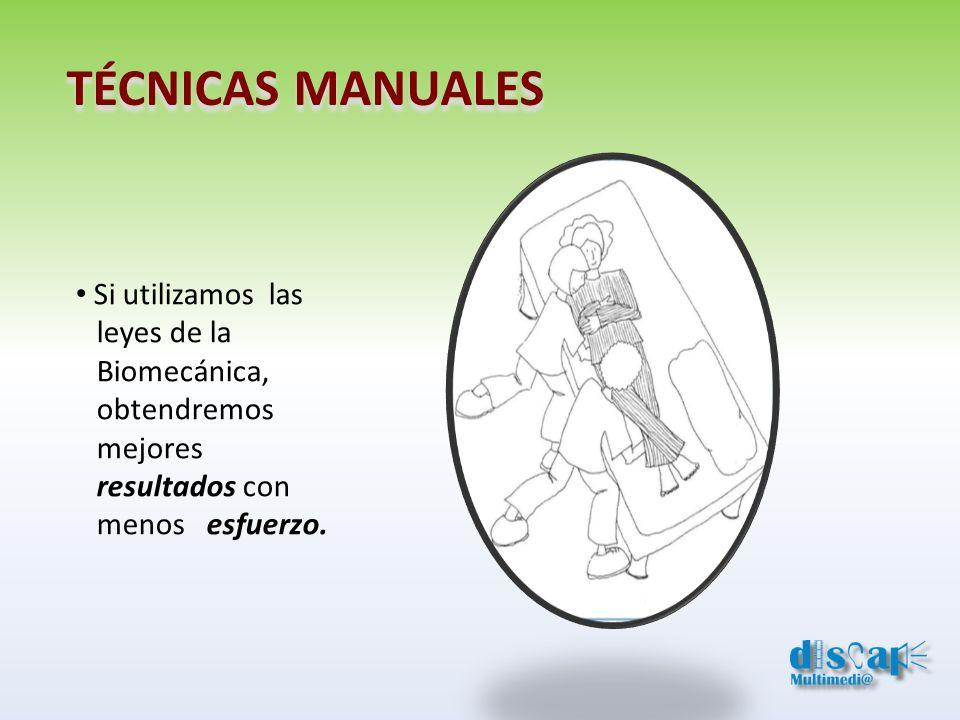 TÉCNICAS MANUALES Si utilizamos las leyes de la Biomecánica,