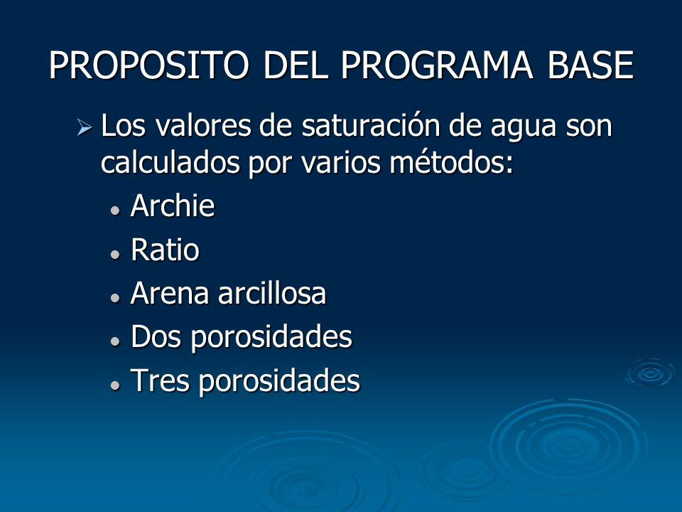 PROPOSITO DEL PROGRAMA BASE