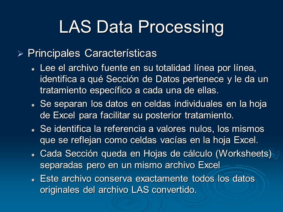 LAS Data Processing Principales Características
