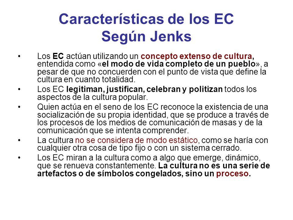 Características de los EC Según Jenks