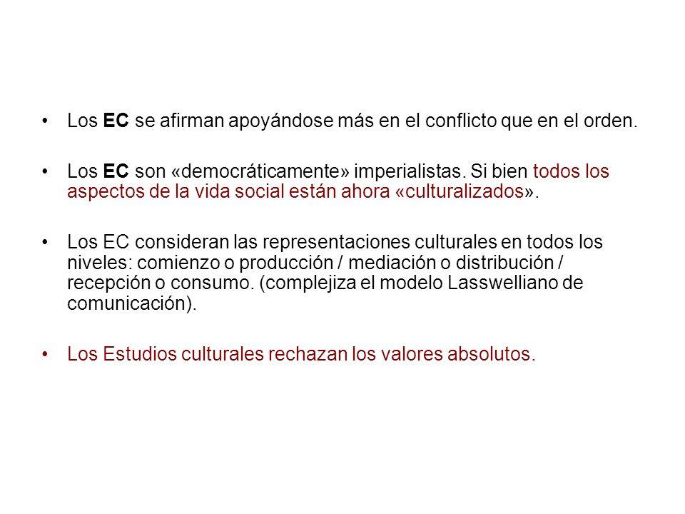 Los EC se afirman apoyándose más en el conflicto que en el orden.