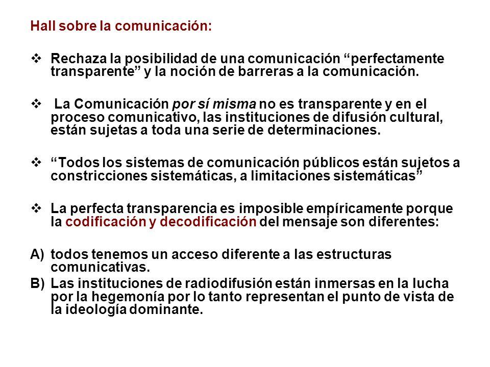 Hall sobre la comunicación: