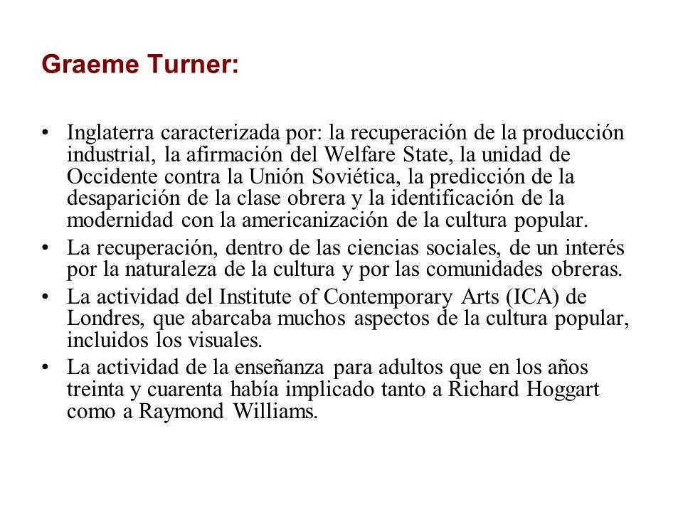 Graeme Turner: