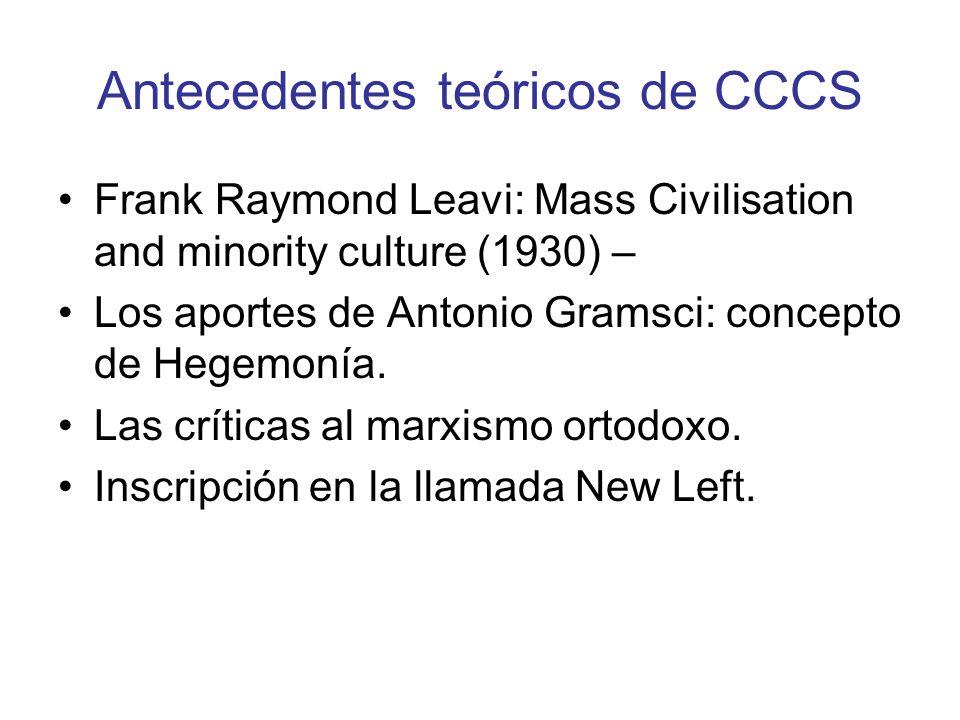 Antecedentes teóricos de CCCS