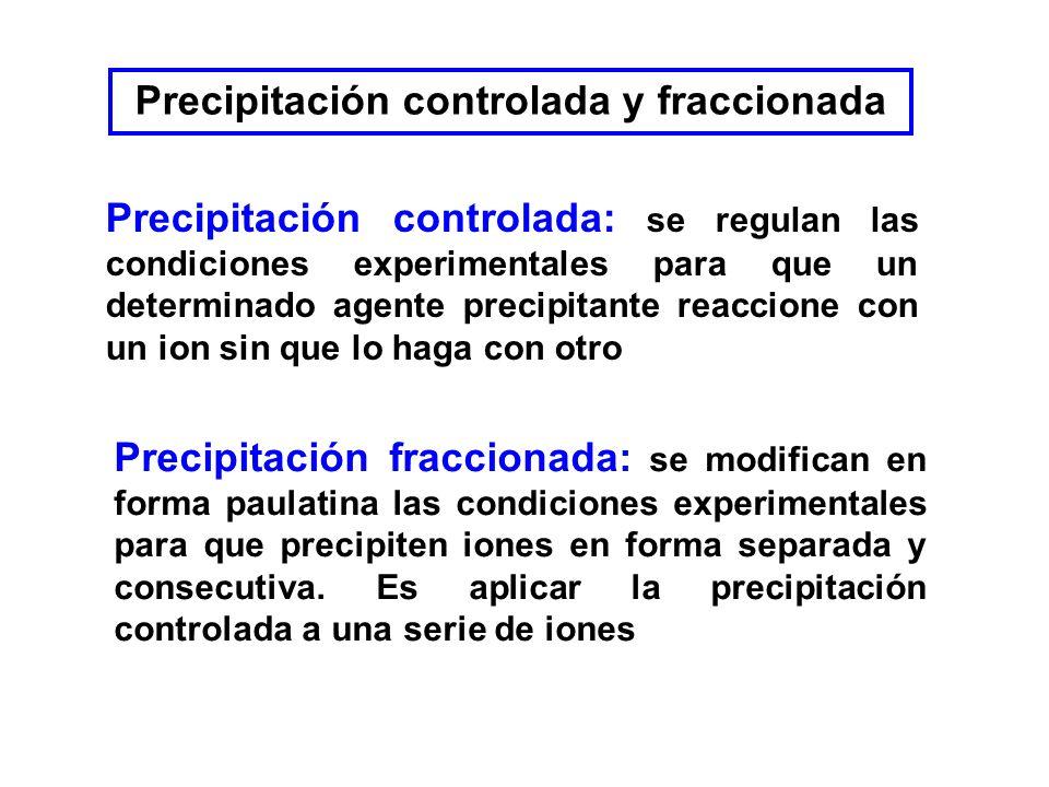 Precipitación controlada y fraccionada