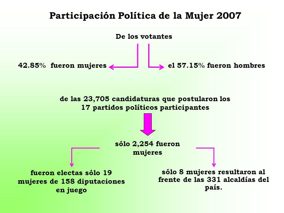 Participación Política de la Mujer 2007