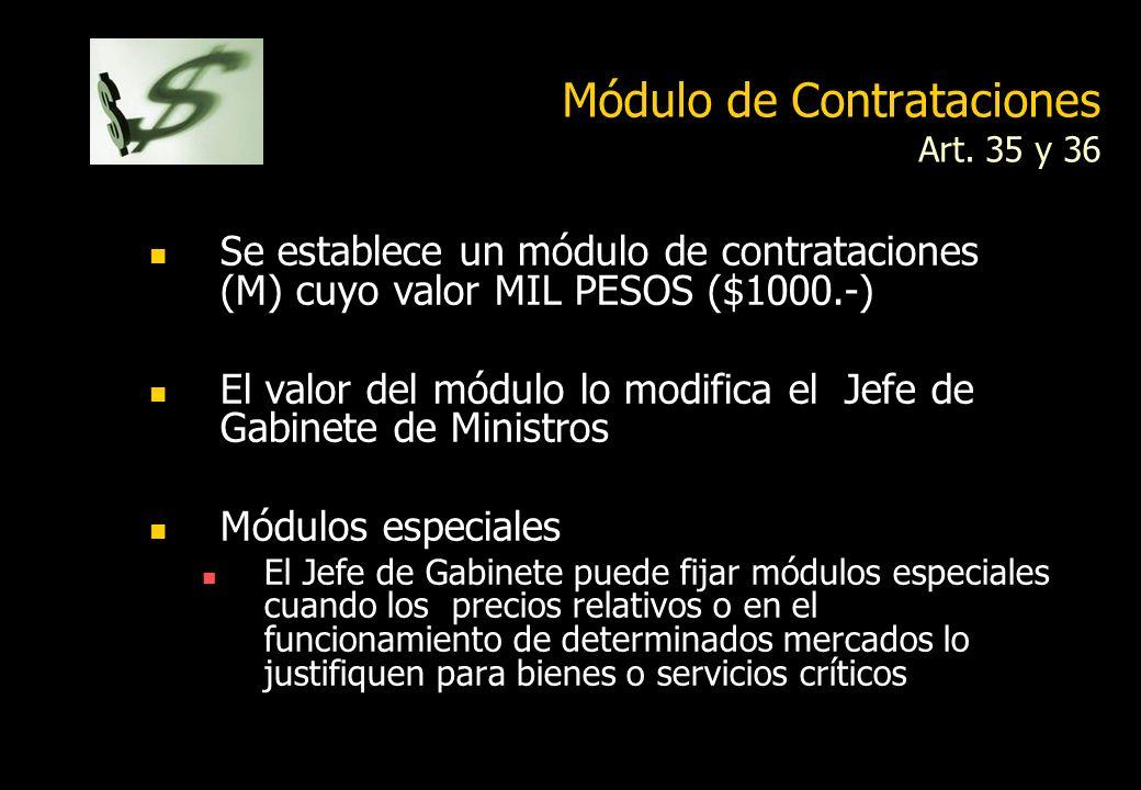 Módulo de Contrataciones Art. 35 y 36