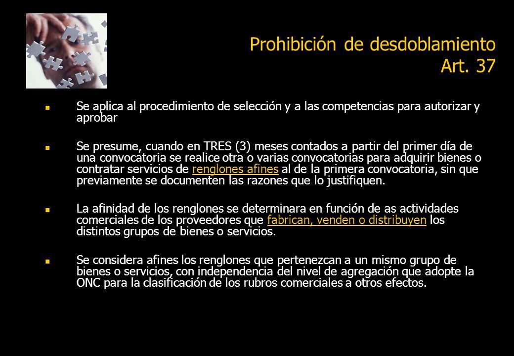 Prohibición de desdoblamiento Art. 37