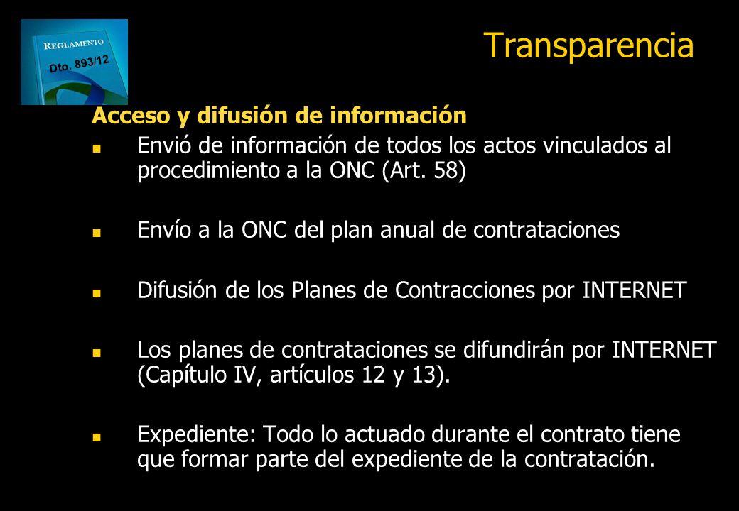 Transparencia Acceso y difusión de información