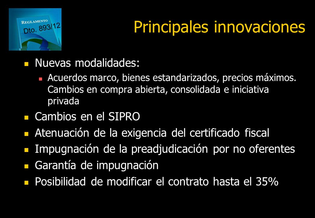 Principales innovaciones