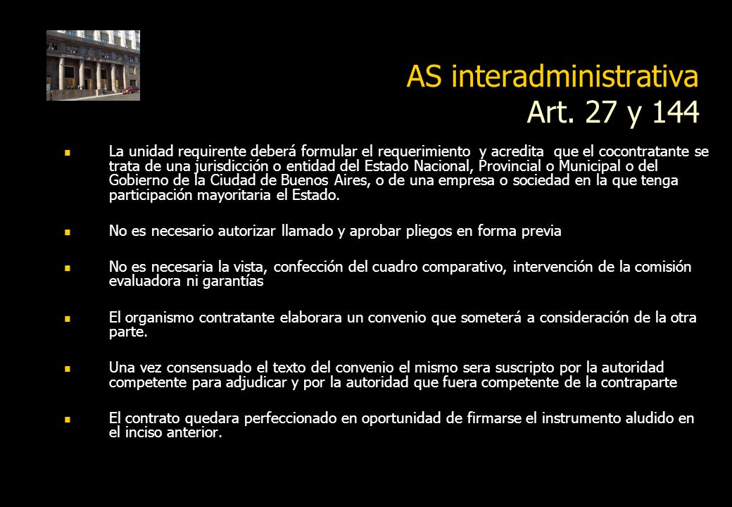 AS interadministrativa Art. 27 y 144