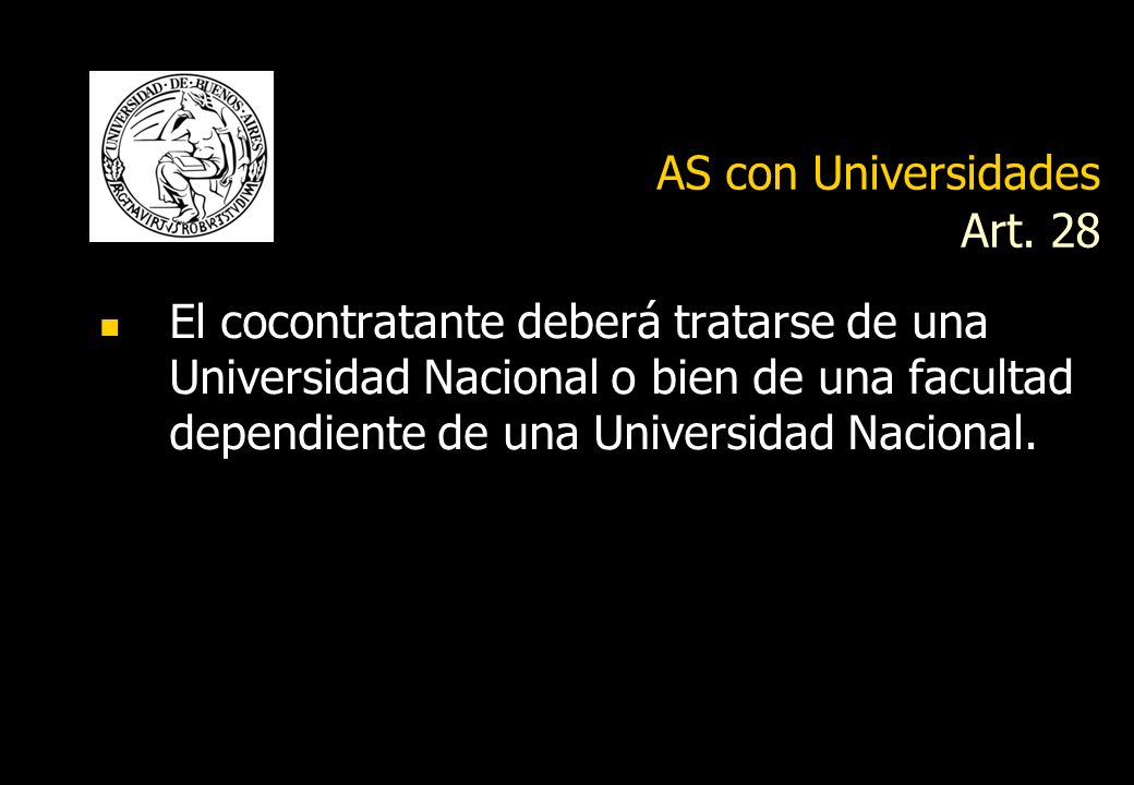 AS con Universidades Art. 28