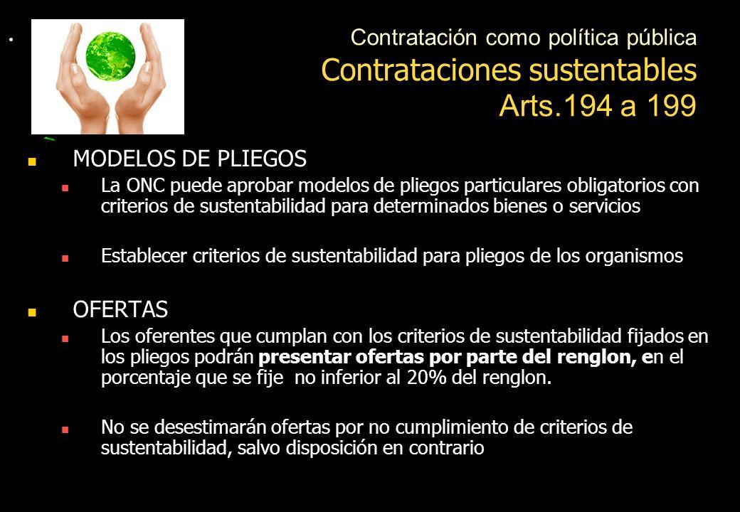 Contrataciones sustentables Arts.194 a 199
