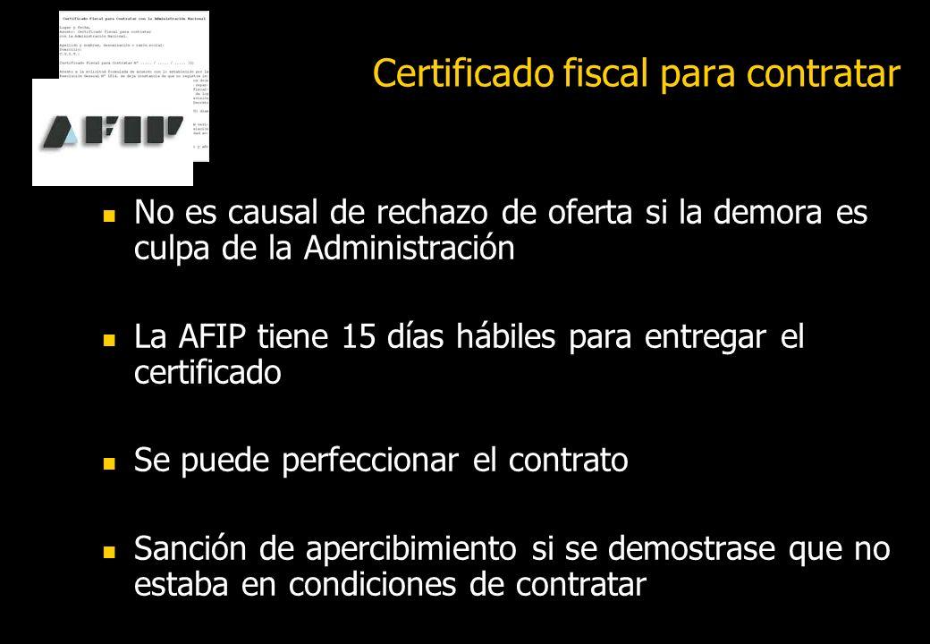 Certificado fiscal para contratar