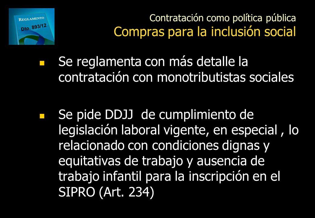 Contratación como política pública Compras para la inclusión social