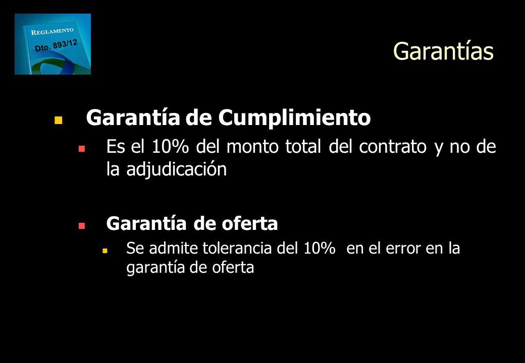 Garantías Garantía de Cumplimiento