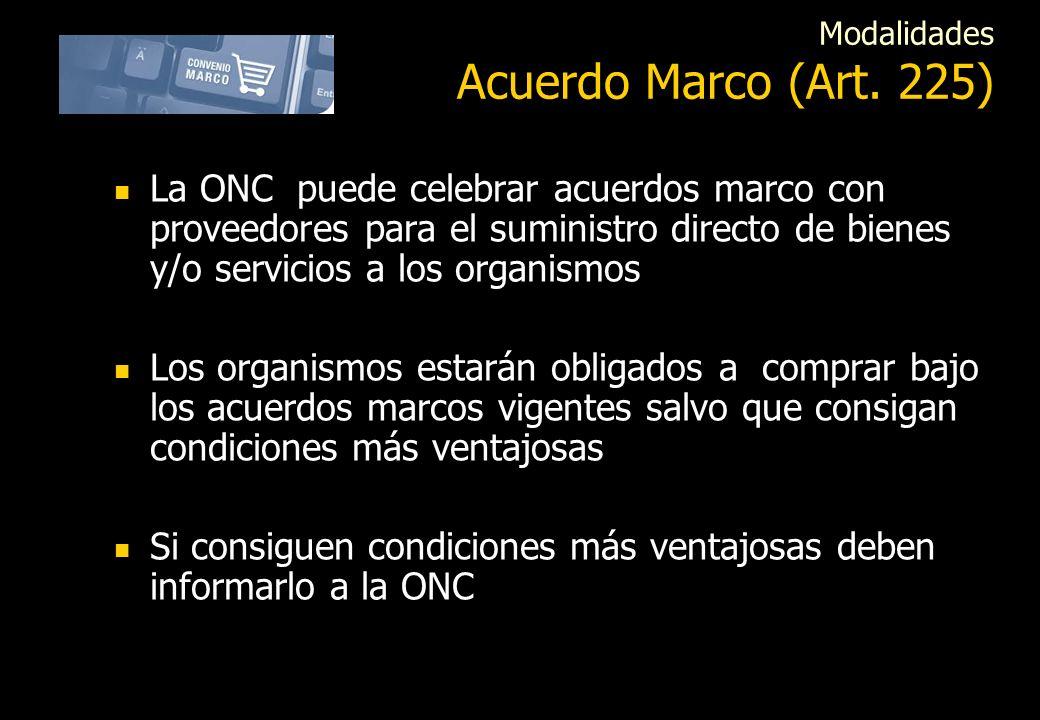 Modalidades Acuerdo Marco (Art. 225)