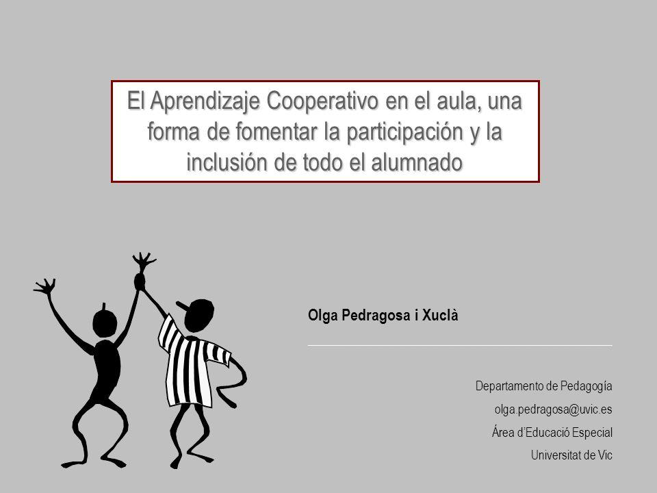 El Aprendizaje Cooperativo en el aula, una forma de fomentar la participación y la inclusión de todo el alumnado