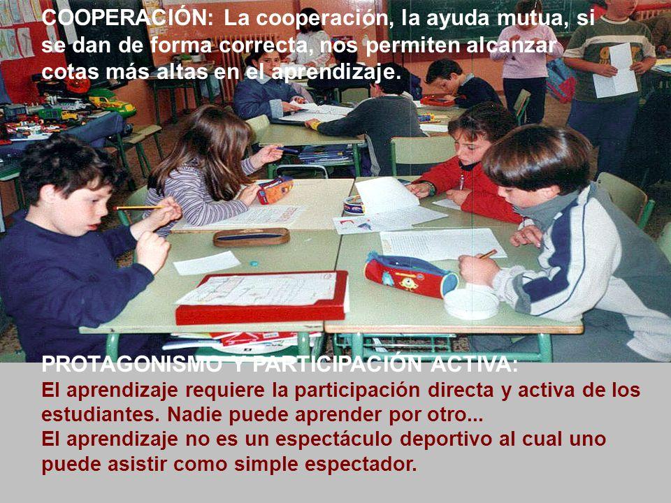 PROTAGONISMO Y PARTICIPACIÓN ACTIVA: