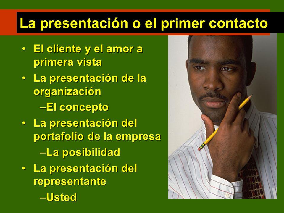 La presentación o el primer contacto