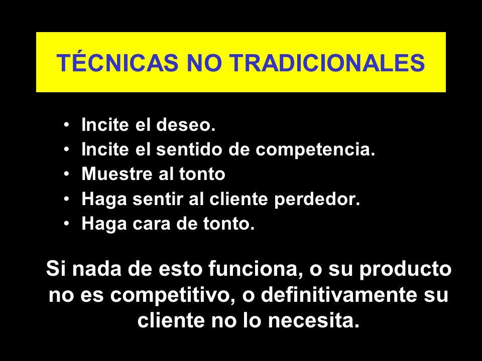 TÉCNICAS NO TRADICIONALES