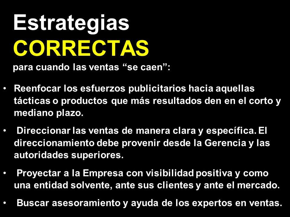 Estrategias CORRECTAS para cuando las ventas se caen :