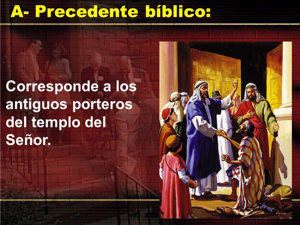 A- Precedente bíblico:
