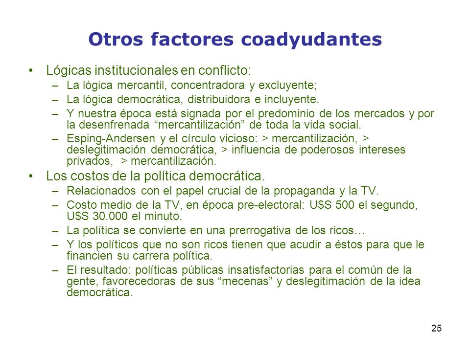 Otros factores coadyudantes