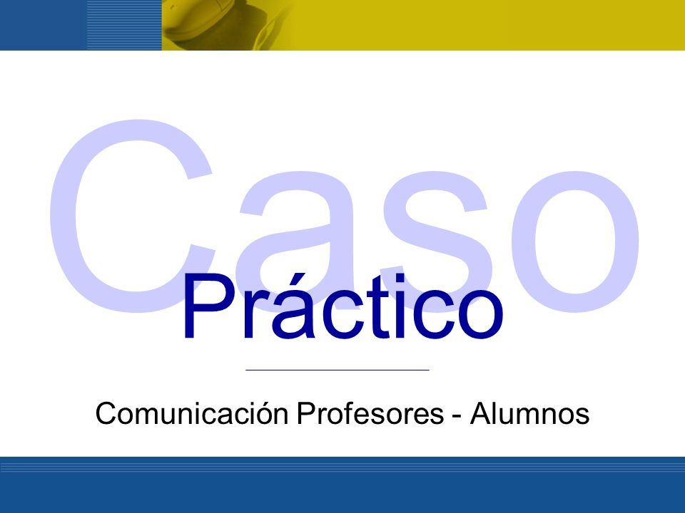 Comunicación Profesores - Alumnos