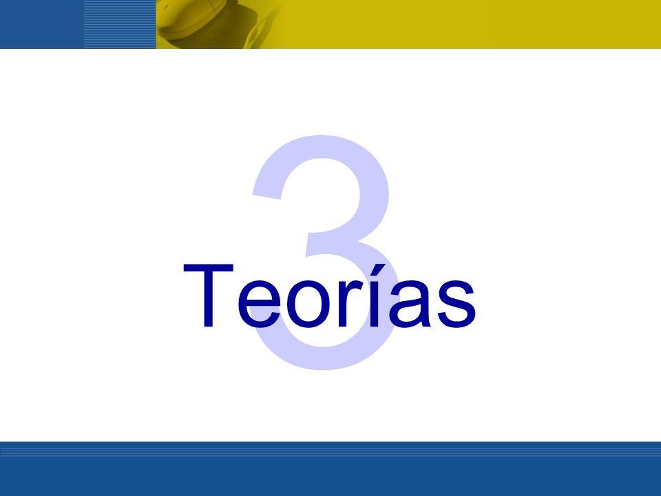 3 Teorías. Teorías… basadas en hechos concretos de aprendizaje.