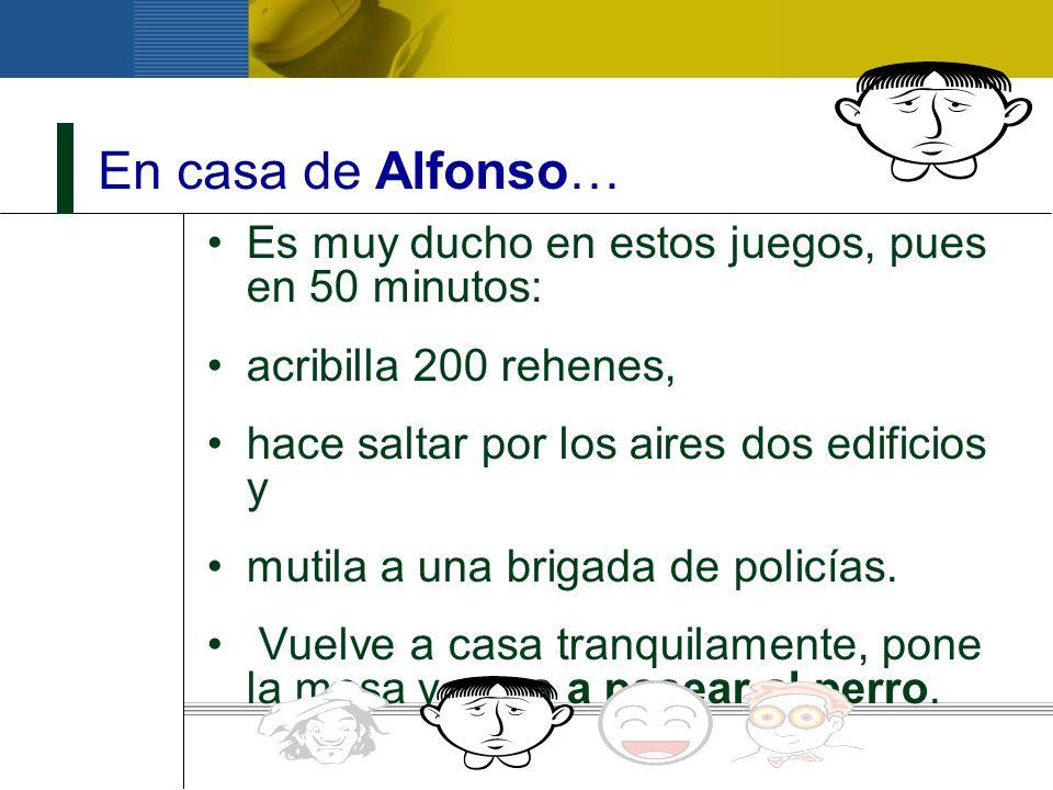 En casa de Alfonso… Es muy ducho en estos juegos, pues en 50 minutos: