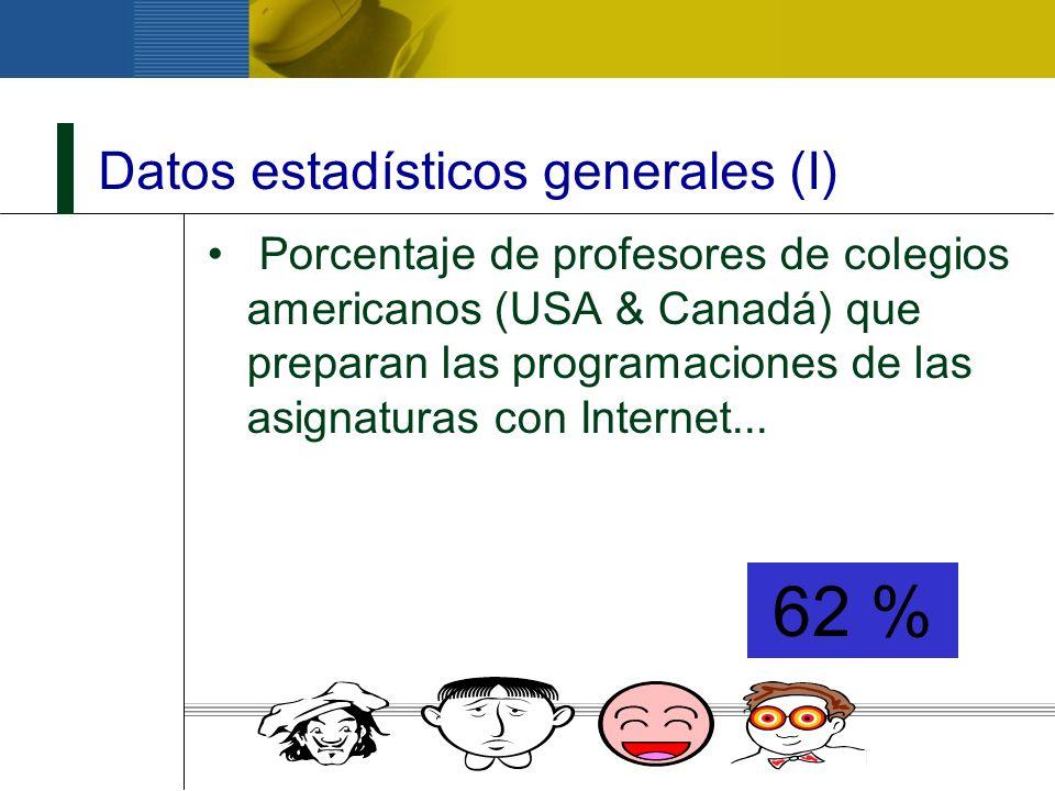 Datos estadísticos generales (I)