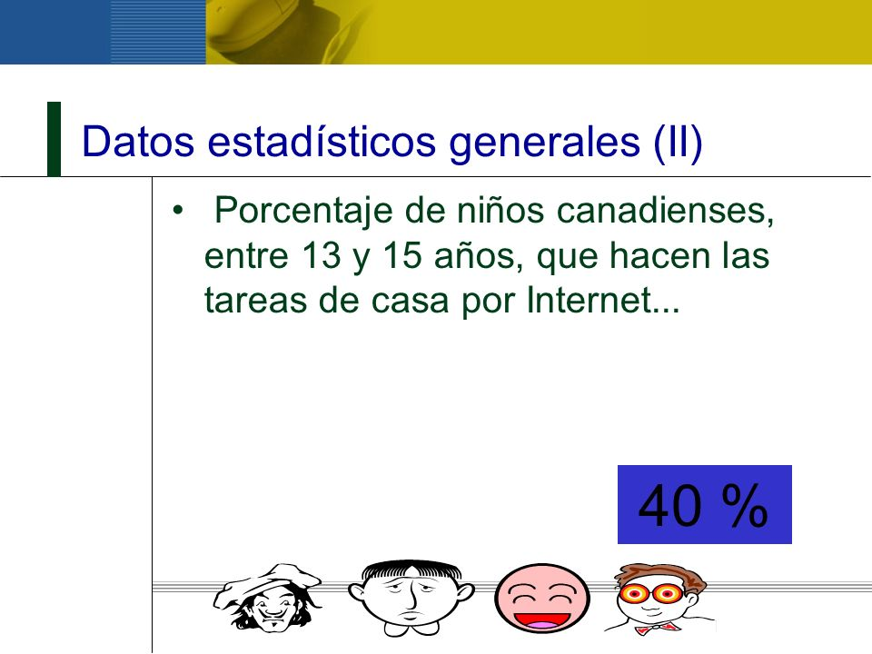 Datos estadísticos generales (II)