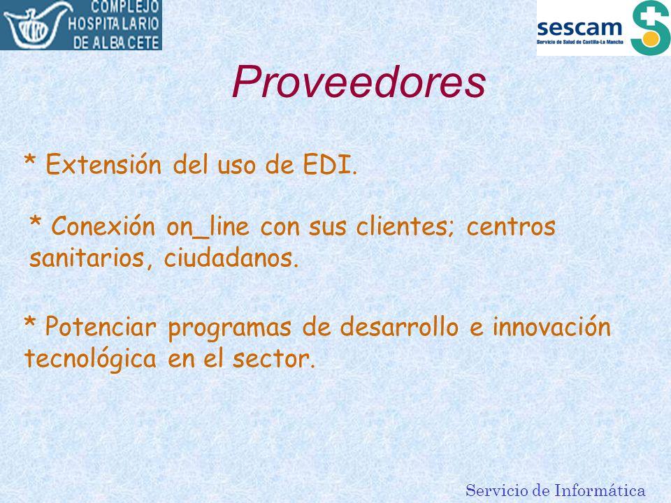 Proveedores * Extensión del uso de EDI.