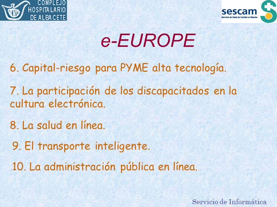 e-EUROPE 6. Capital-riesgo para PYME alta tecnología.