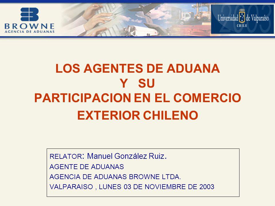 LOS AGENTES DE ADUANA Y SU PARTICIPACION EN EL COMERCIO EXTERIOR CHILENO