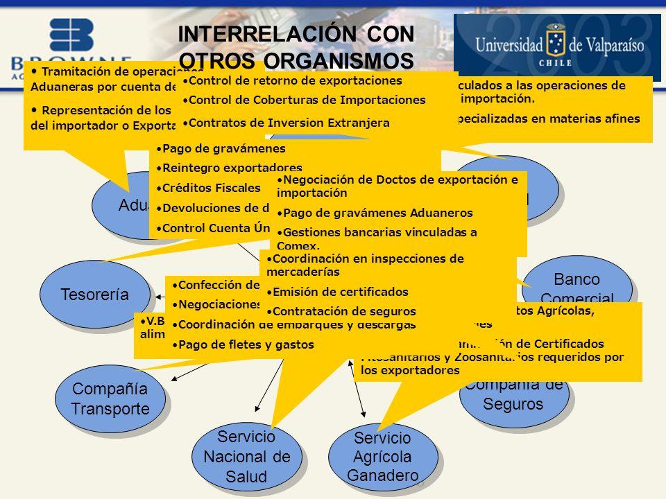 INTERRELACIÓN CON OTROS ORGANISMOS