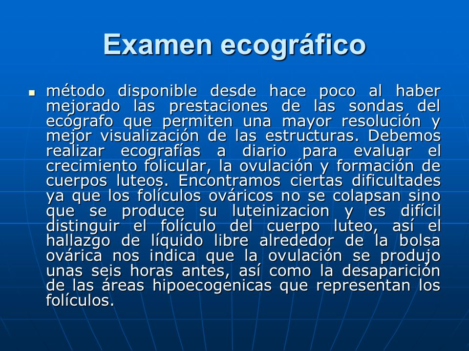 Examen ecográfico