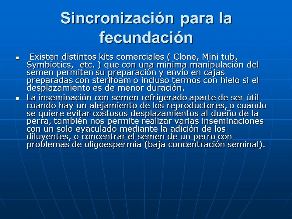 Sincronización para la fecundación